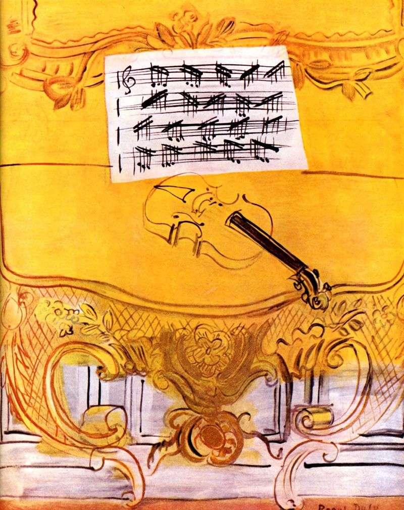 هارمونيوم أصفر مع الكمان   راؤول دوفي