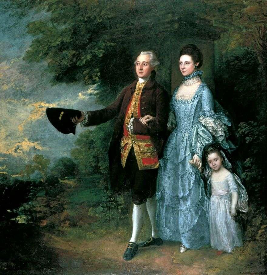 جورج ولويز بيم مع ابنتها سارة   توماس غينزبورو