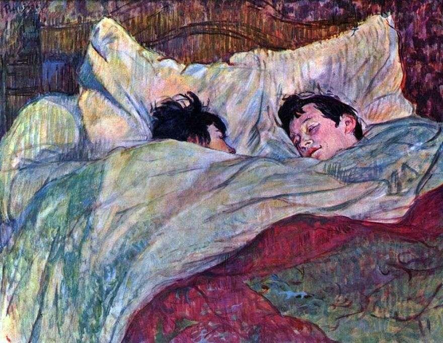 فتاتان في السرير   هنري دي تولوز لوتريك
