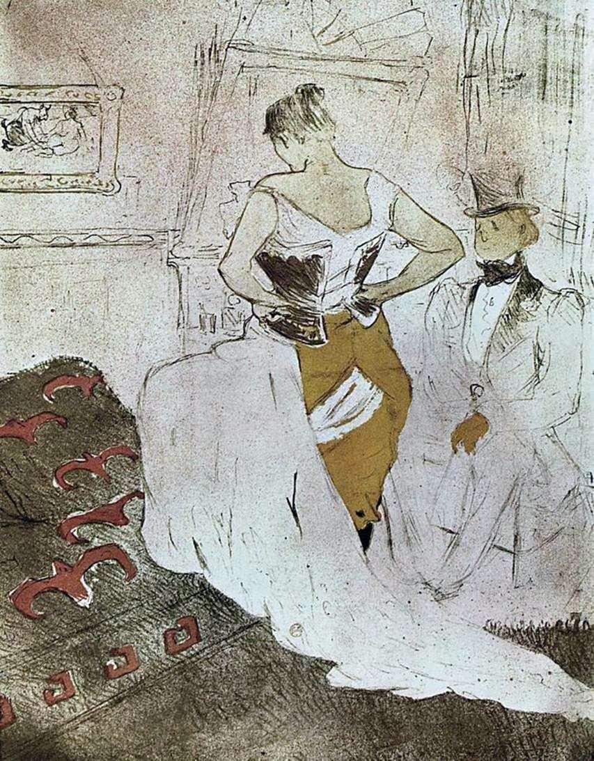 فتاة مشد   هنري دي تولوز لوتريك