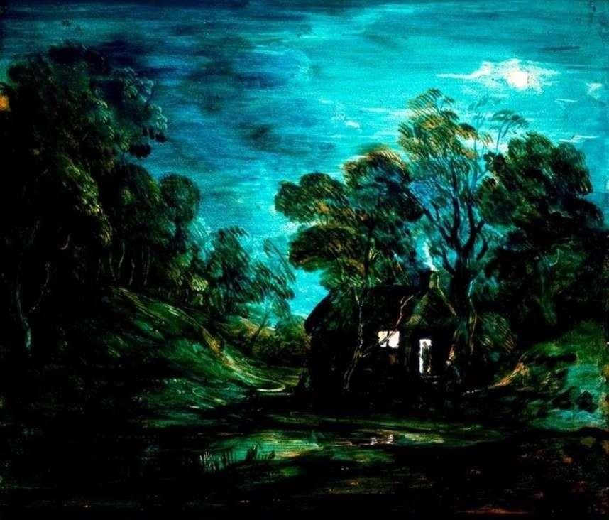 المشهد القمري مع منزل   توماس غينزبورو