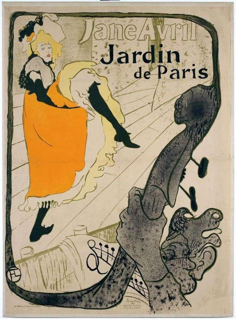 جين أفريل (جين أفريل في حديقة باريس)   هنري دي تولوز لوتريك