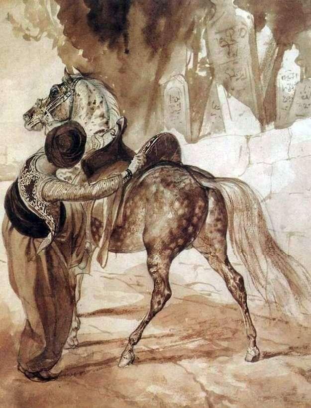 اليونانية مع الحصان   كارل برايلوف