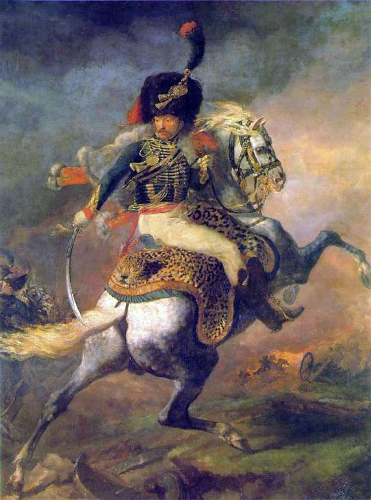 حارس الحرس الامبراطوري الحارس الضابط الذهاب إلى الهجوم   تيودور جيريكولت