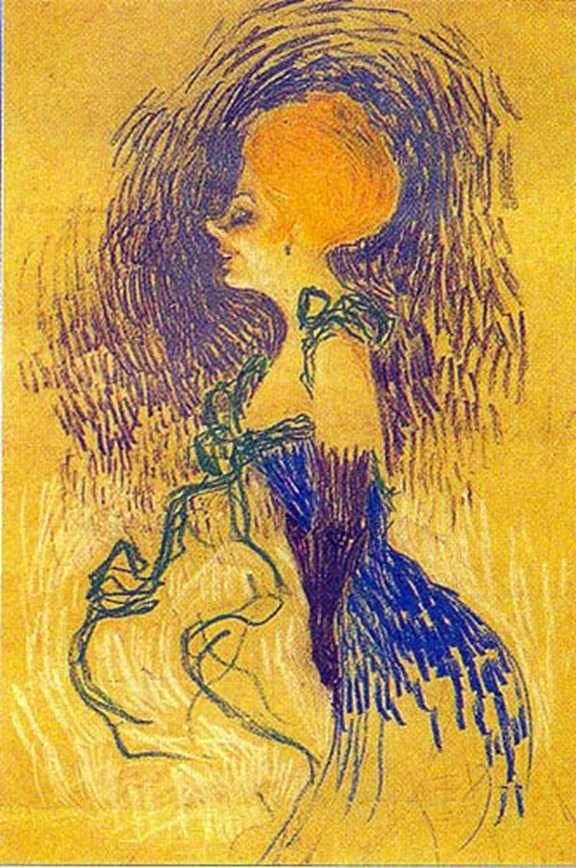المرأة الشابة في القفازات   هنري دي تولوز لوتريك
