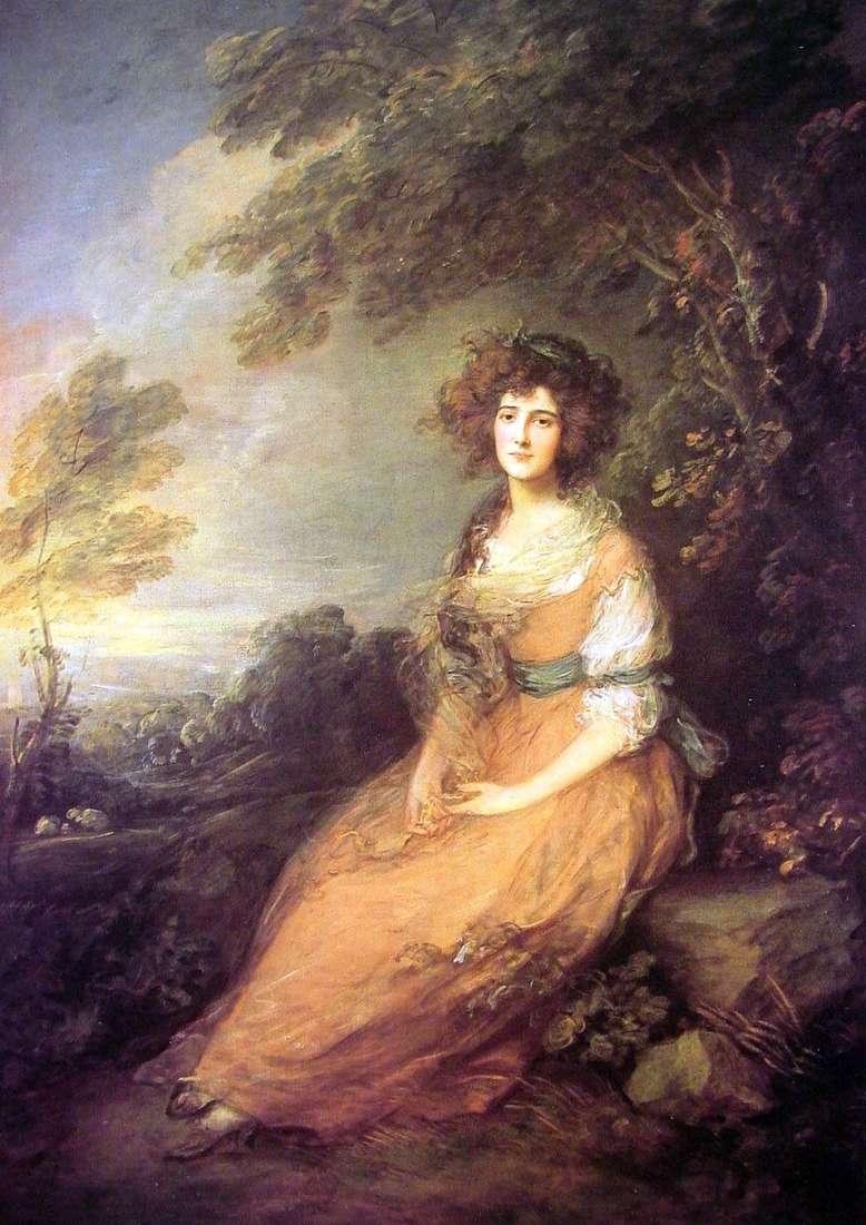 صورة للسيدة إليزابيث شيريدان   توماس غينزبورو