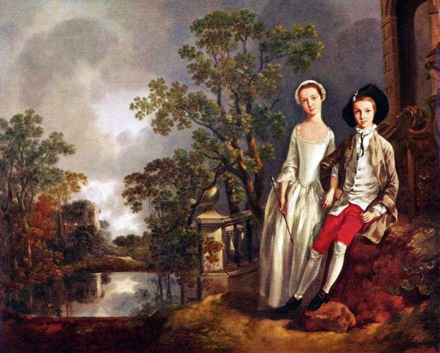 صورة لإينييا لويد مع الأخت لوسي   توماس غينزبورو