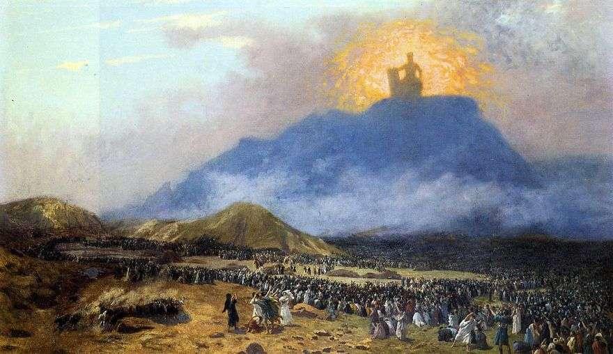 موسى على جبل سيناء   جان ليون جيروم