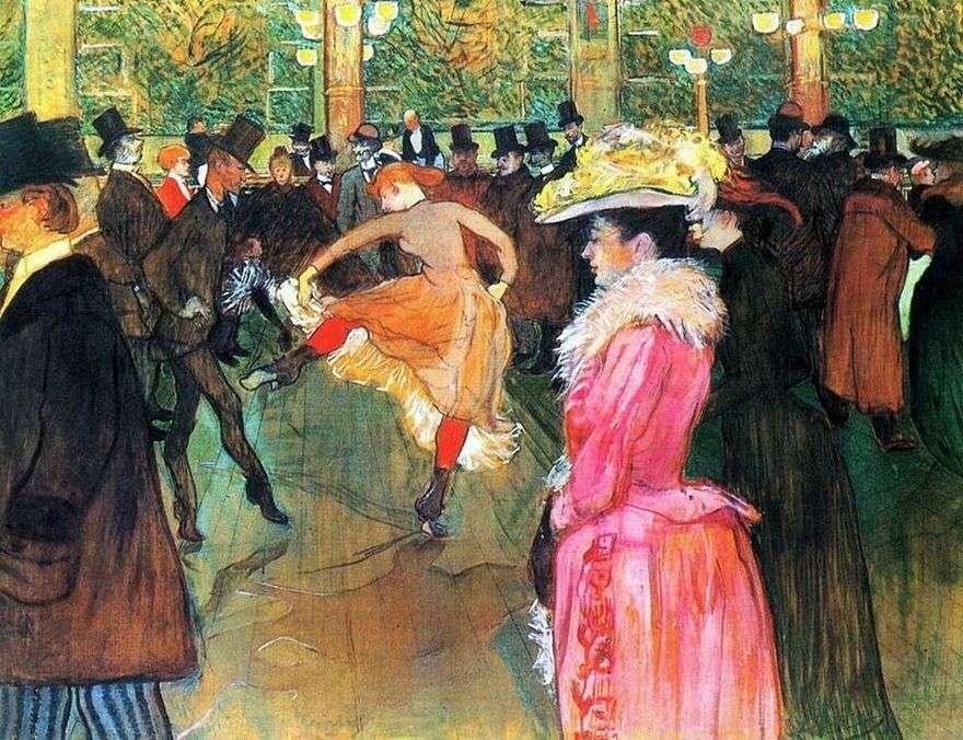 الرقص في مولان روج   هنري دي تولوز لوتريك