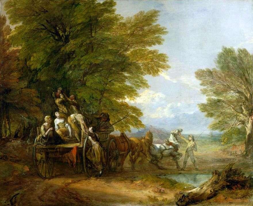 حصاد العربة   توماس غينزبورو