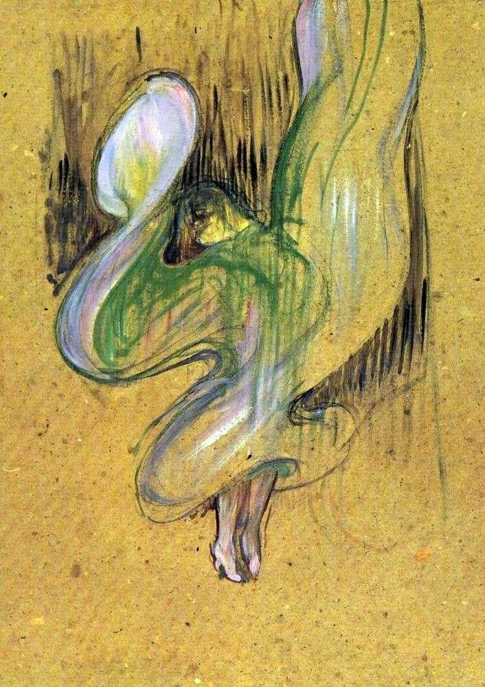 دراسة عن الطباعة الحجرية لوي فولر في فولي بير غيرز   هنري دي تولوز لوتريك