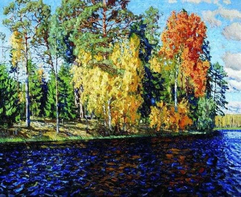 فورست ليك. الخريف الذهبي (المياه الزرقاء)   ستانيسلاف جوكوفسكي