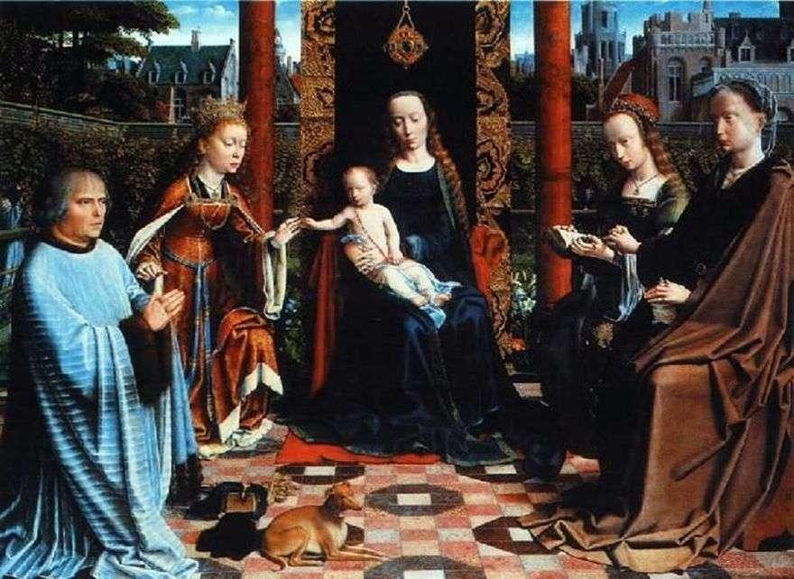 مادونا مع الطفل والقديسين والمتبرع   ديفيد جيرارد