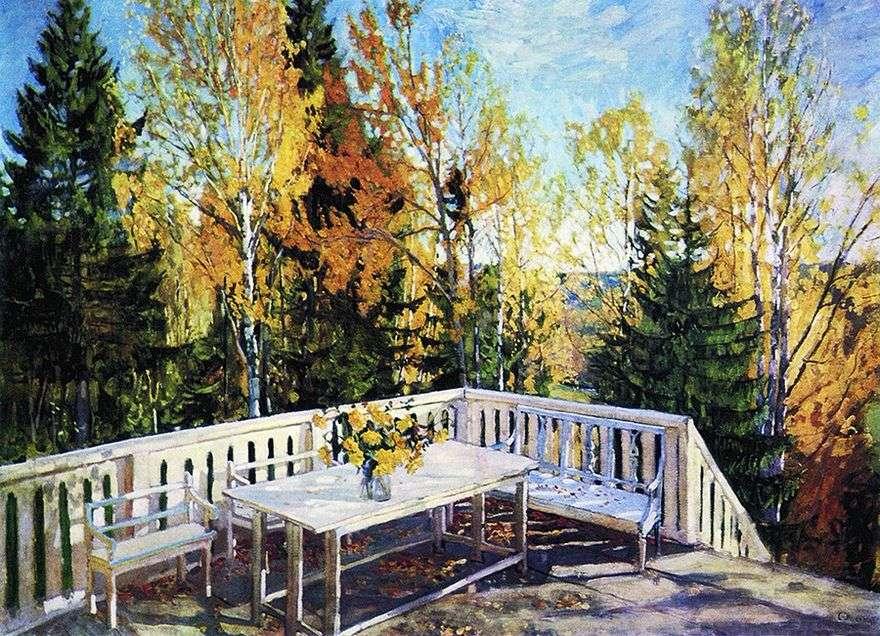 الخريف. الشرفة   ستانيسلاف جوكوفسكي