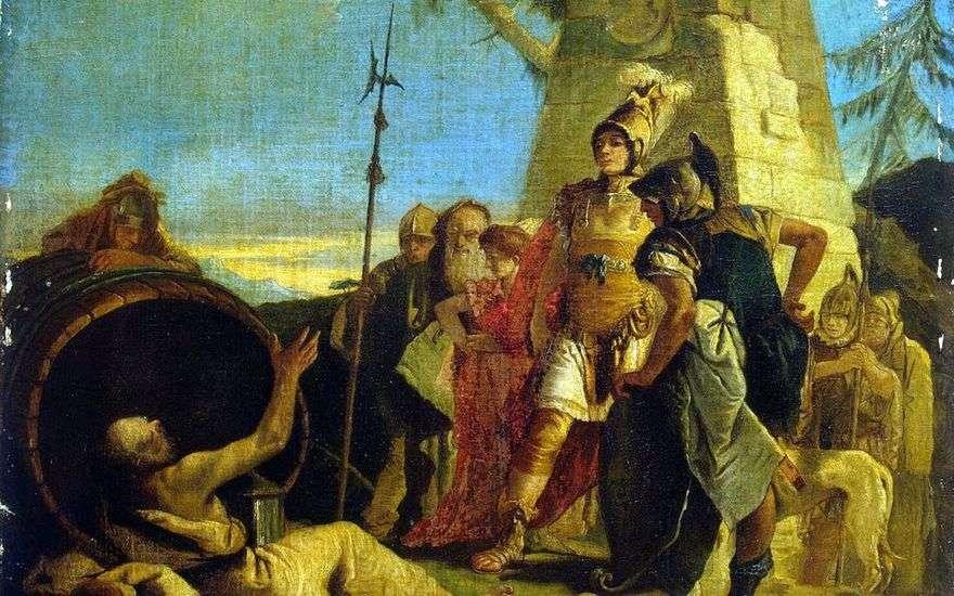 الإسكندر الأكبر والديوجين   جيوفاني باتيستا تيبولو