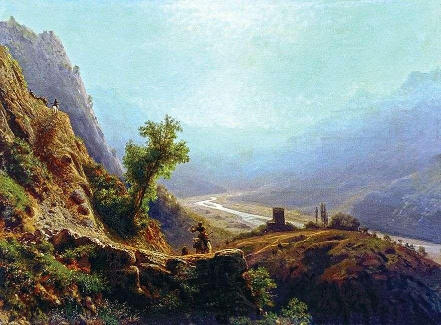 في جبال القوقاز   ليف لاغوريو