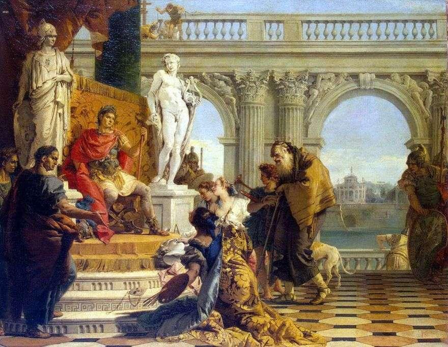 Maecenas يقدم الفنون الحرة للإمبراطور أوغسطس   جيوفاني باتيستا تيبولو