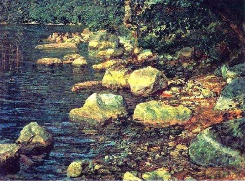 المياه والحجارة تحت Palazzuolo ، بالقرب من فلورنسا   الكسندر ايفانوف