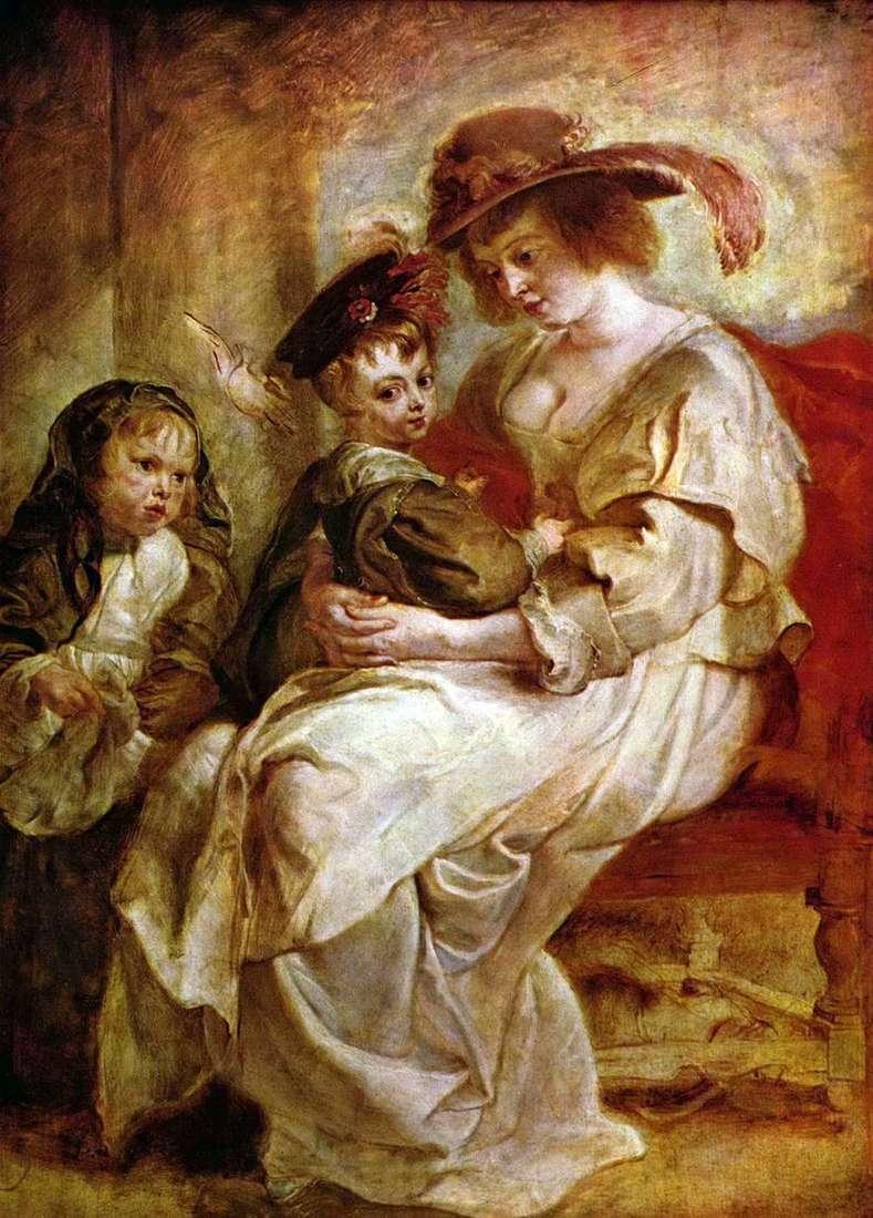 إيلينا فورمان مع الأطفال كلير جين وفرانسوا   بيتر روبنز