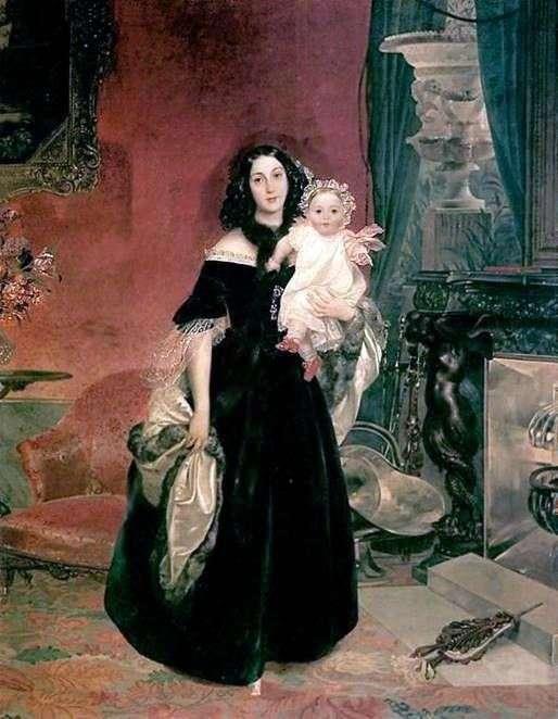 صورة م. أ. بيك مع ابنته   كارل برايلوف