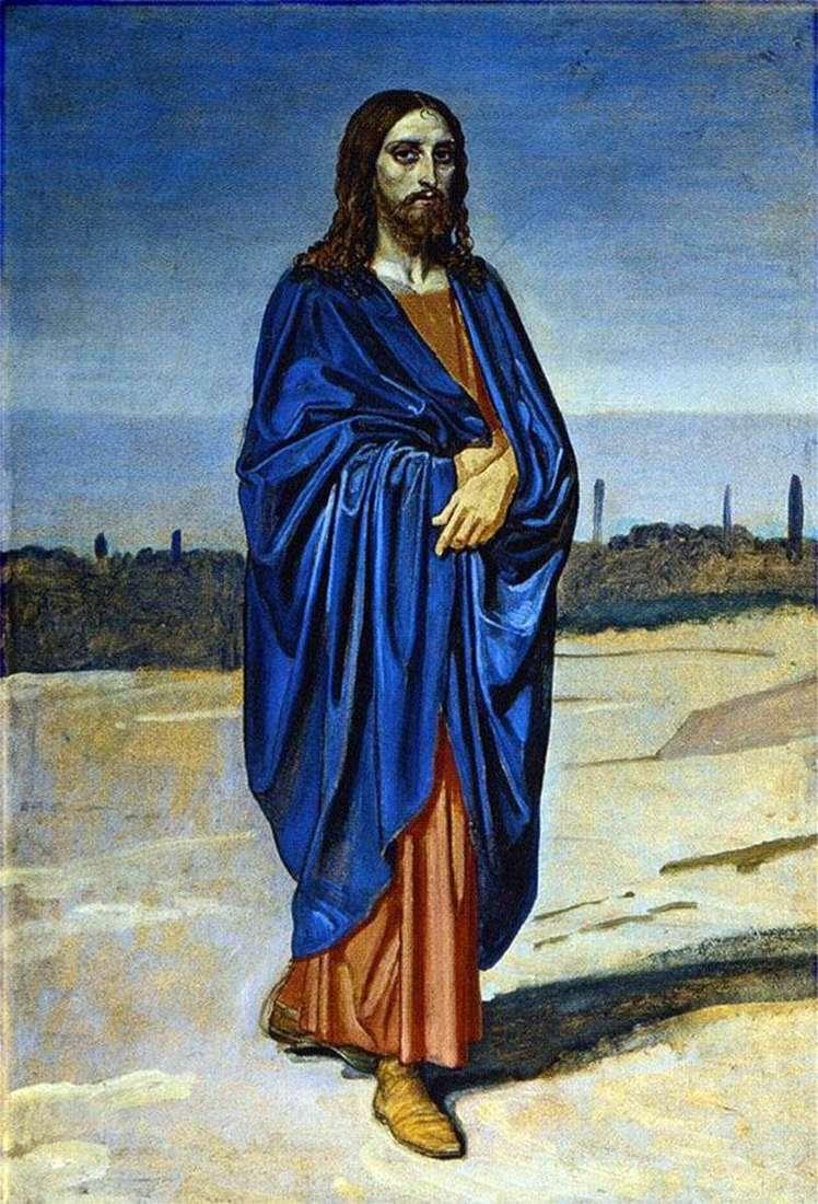 صورة المسيح. جزء من الصورة   الكسندر ايفانوف
