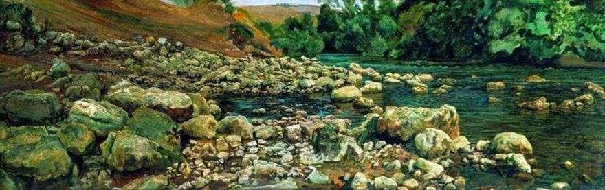 سفح فيكوفارا. احجار بجانب النهر   الكسندر ايفانوف