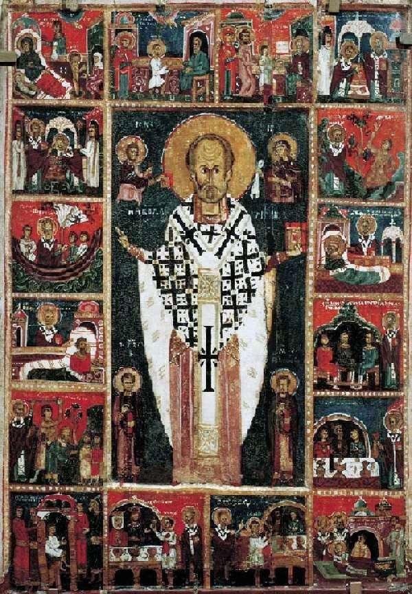 القديس نيكولاس العجائب ، مع حياة 16 درجة