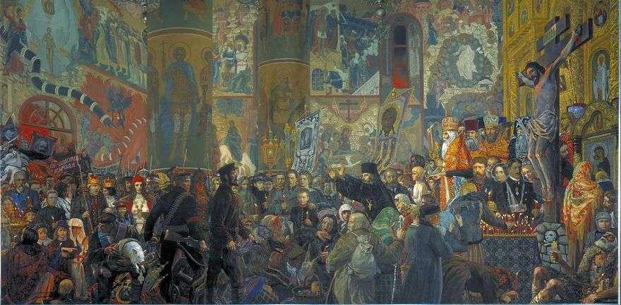 هزيمة المعبد في ليلة عيد الفصح   ايليا Glazunov