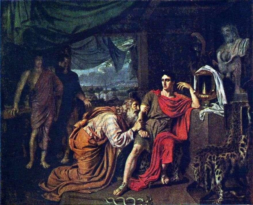 Priam يسأل أخيل لجثة هيكتور   الكسندر إيفانوف