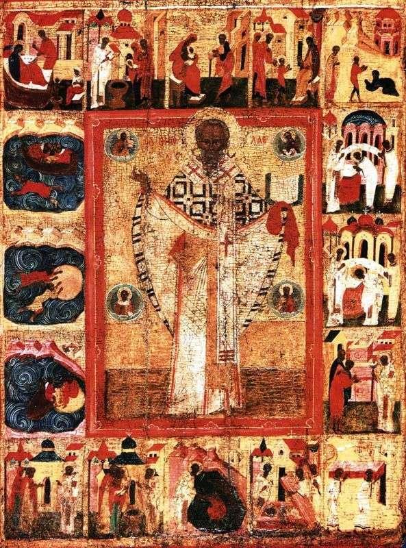 سانت نيكولاس ، مع 16 بصمات الحياة