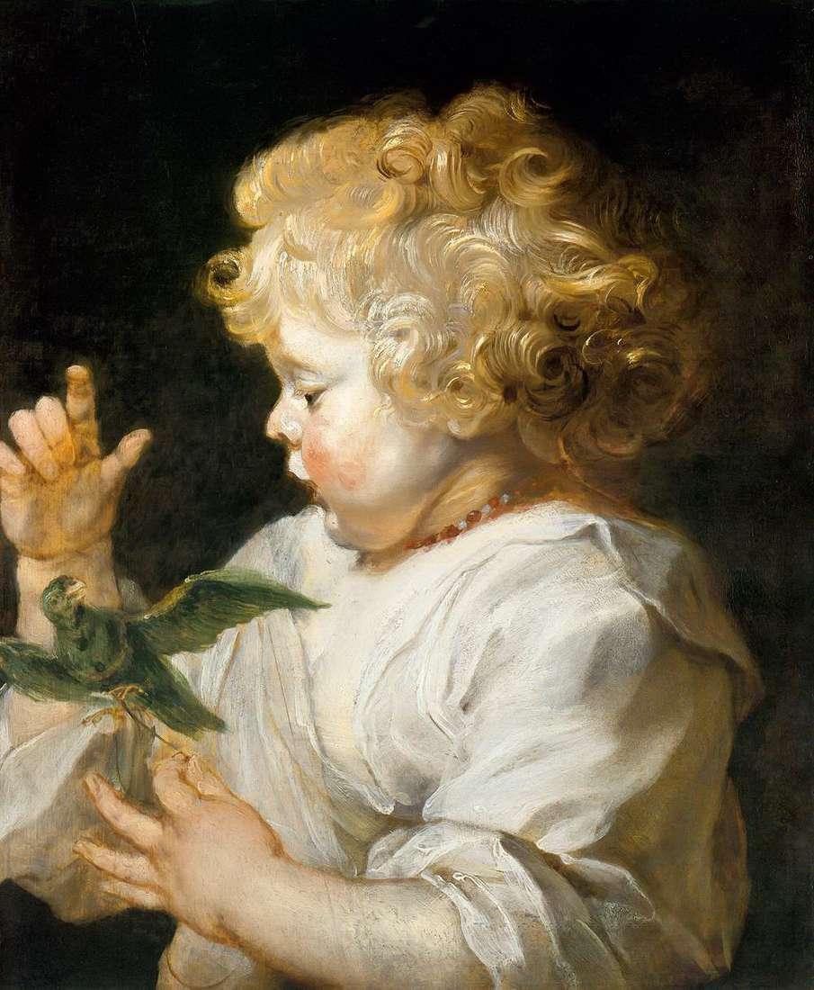 صبي مع الطيور   بيتر روبنز