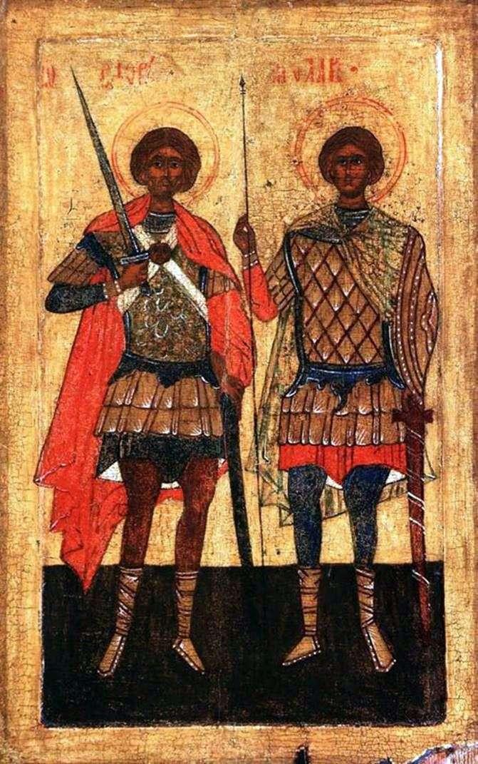 القديسين فلور ولوريس كمحاربين