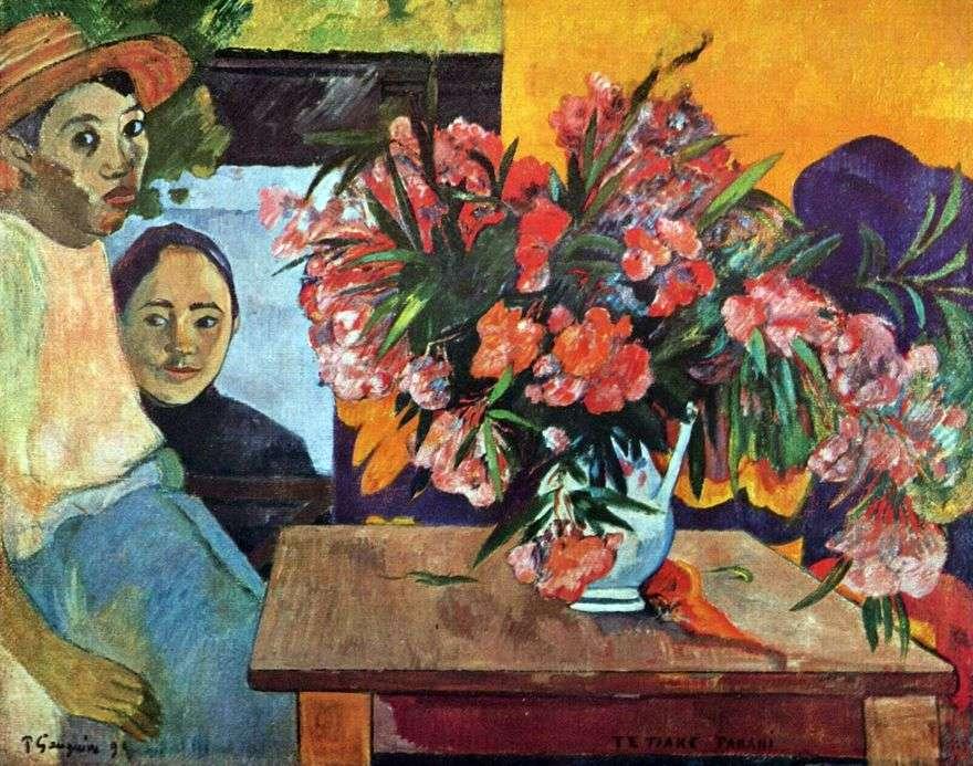 باقة كبيرة من الزهور والأطفال التاهيتي   بول غوغان