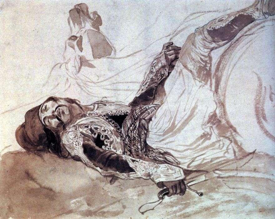 الجرحى سقطوا من الحصان   كارل Bryullov