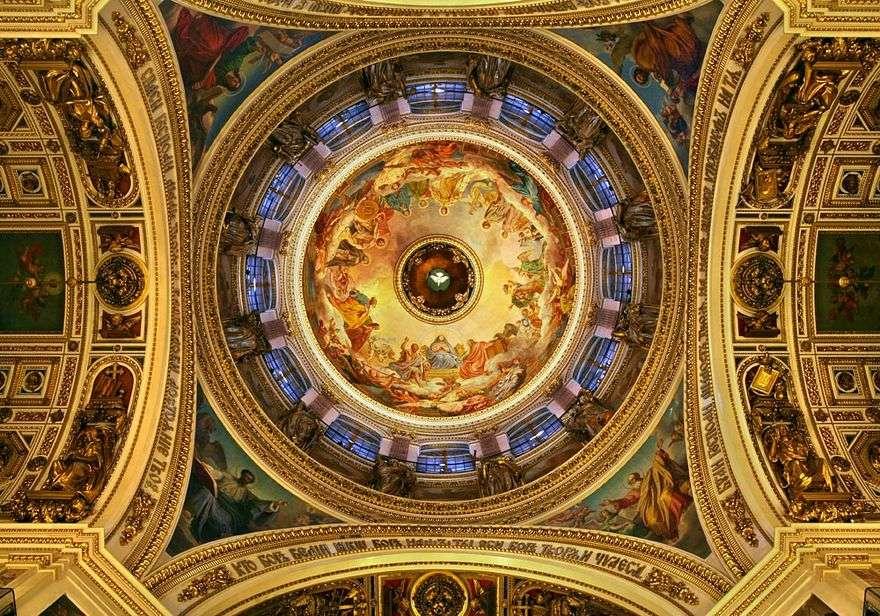 جداريات على سقف كاتدرائية القديس إسحاق   كارل برايلوف