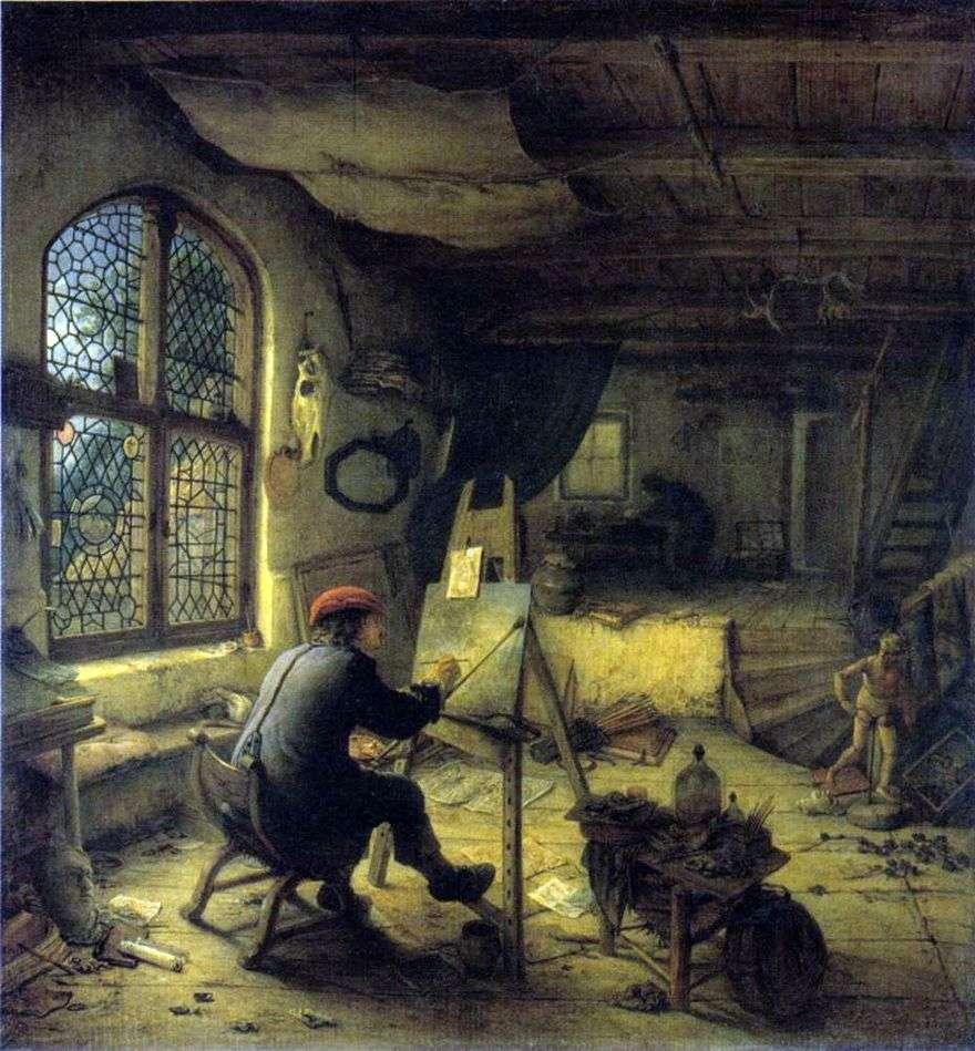 فنان في ورشة العمل   أدريان فان أوستاد