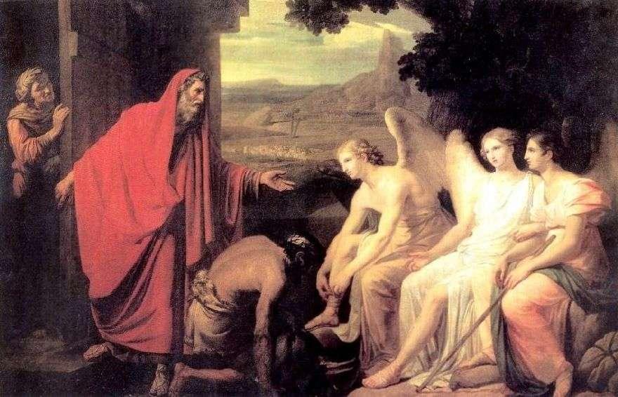 ظهور ثلاث ملائكة لإبراهيم بواسطة بلوط مامبرا   كارل برايلوف