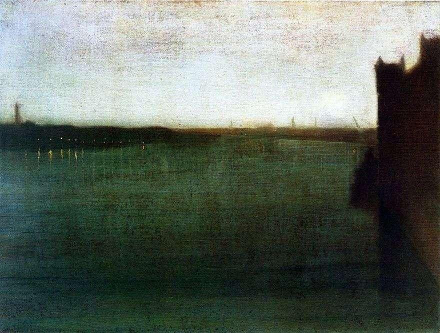 الموسيقى الهادئة باللون الرمادي والذهبي: جسر ويستمنستر   James Whistler