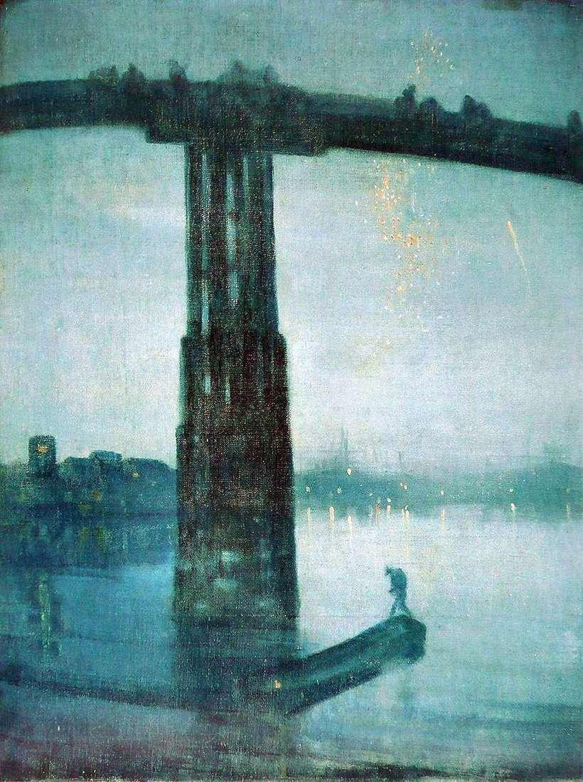 الموسيقى الهادئة بالأزرق والذهبي: جسر باترسي القديم   جيمس ويسلر