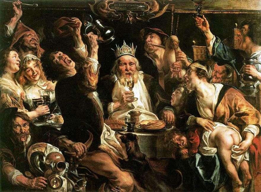 الملك يشرب   يعقوب جوردان
