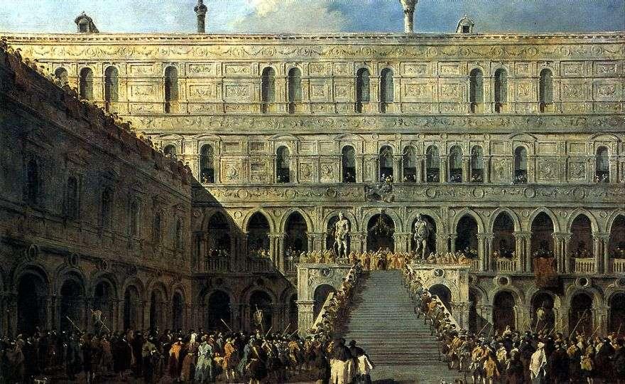 تتويج دوجي على درج العمالقة في قصر دوجي   فرانشيسكو غواردي
