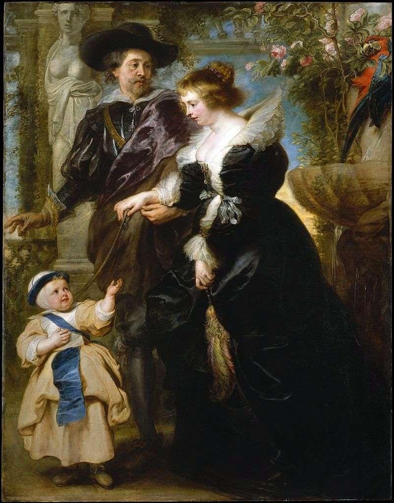 بيتر روبنز ، وزوجته هيلين فورمينت وابنهم   بيتر روبنز