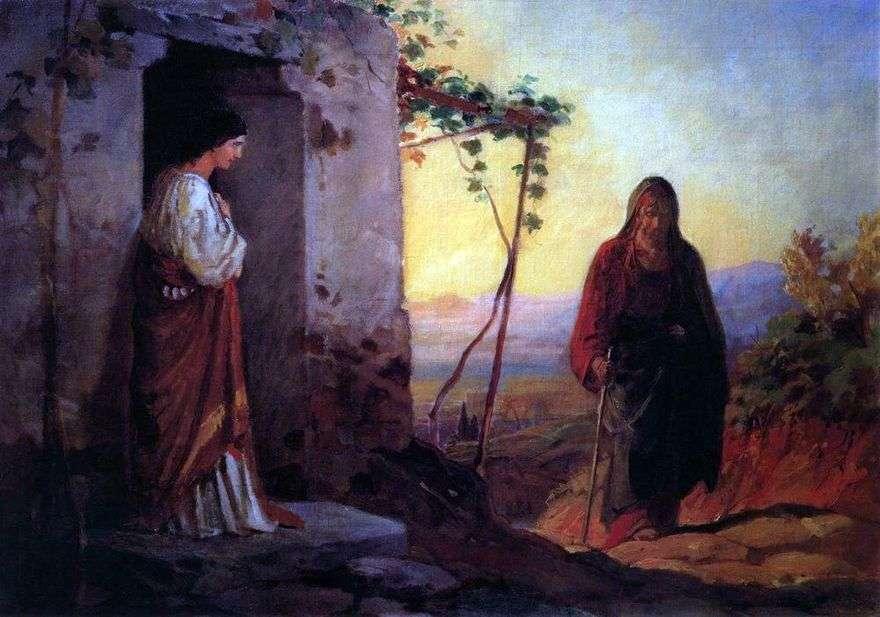تلتقي ماري ، أخت لعازر ، بيسوع المسيح ، قادمة إلى منزلهما   نيكولاي جي