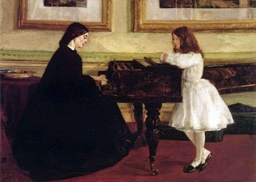 في البيانو   جيمس ويسلر