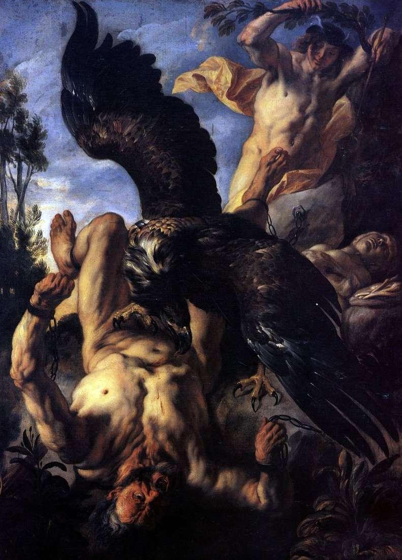 النسر تعذب بروميثيوس   يعقوب جوردان