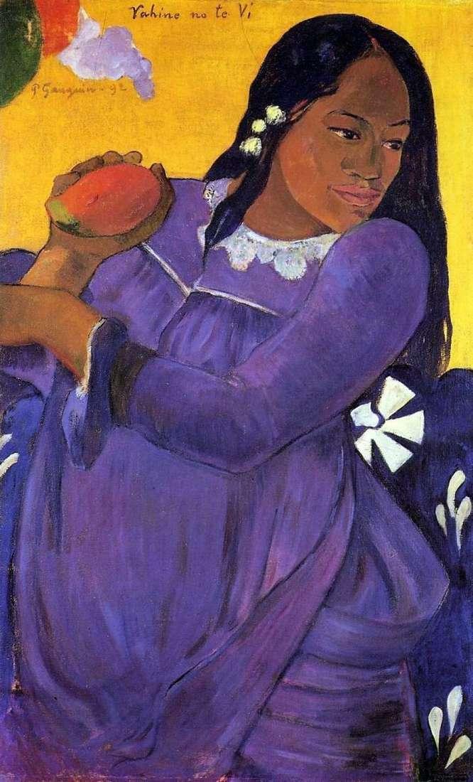 المرأة مع المانجو (فتاة مع مانجو الفاكهة)   بول غوغان