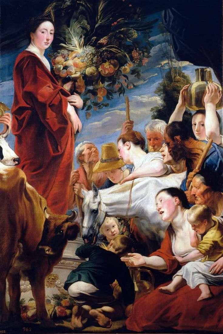 تقدم إلى سيريس ، إلهة الحصاد   يعقوب جوردان