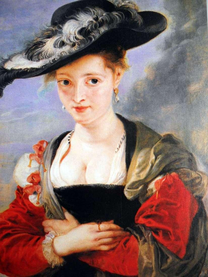 صورة لسيدة في قبعة سترو   بيتر روبنز