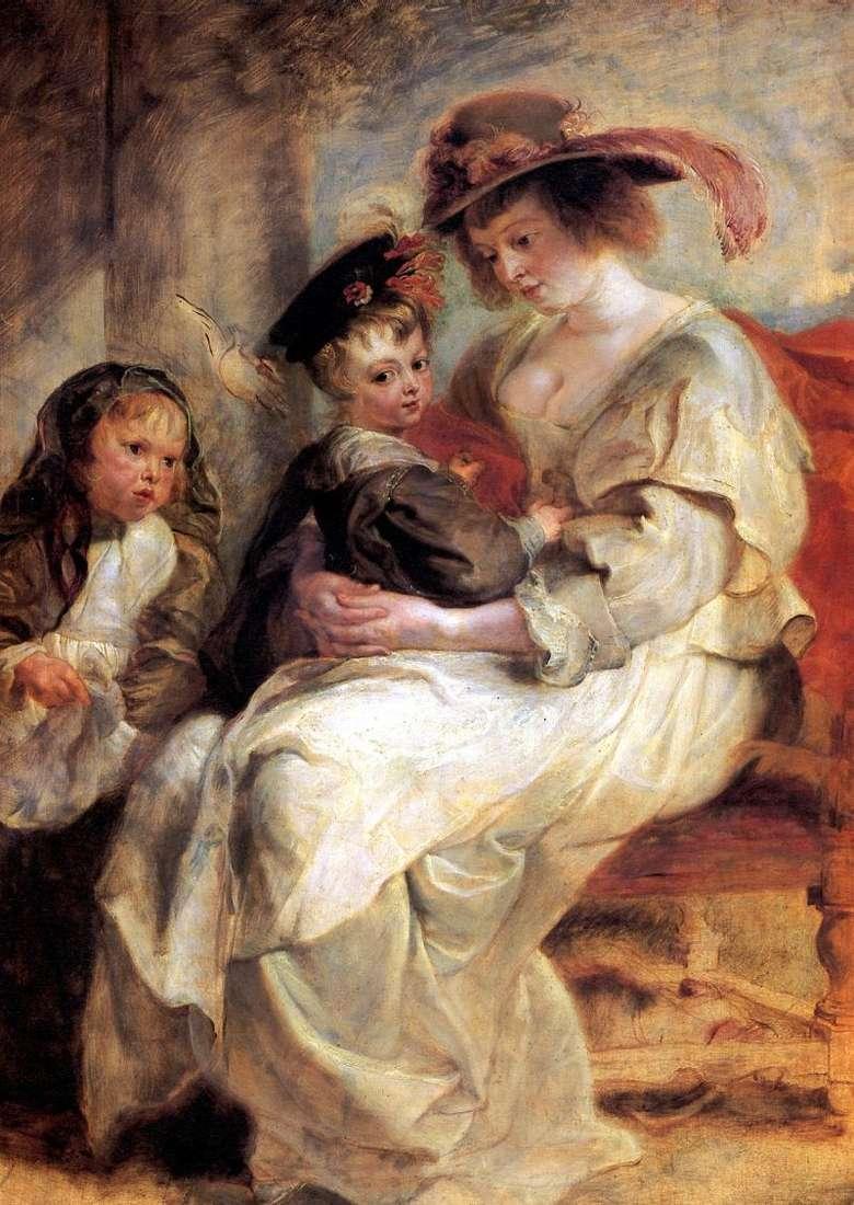 صورة لإيلينا فورمان مع طفلين   بيتر روبنز