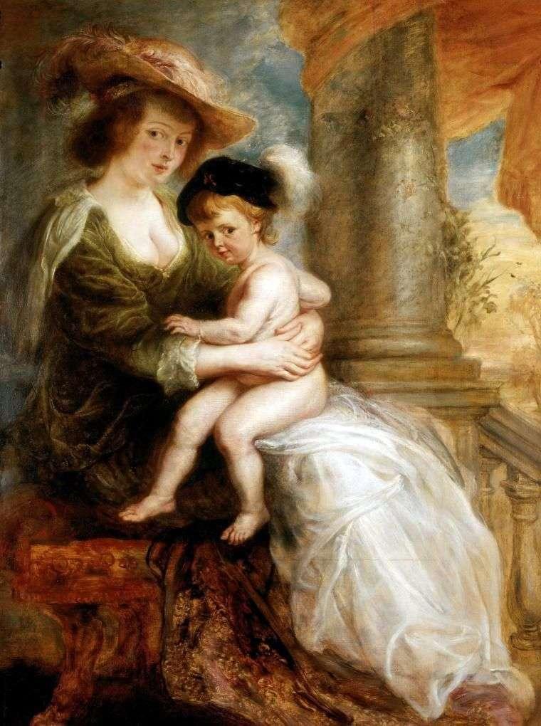 صورة لإيلينا فورمنت مع ابنها الأكبر فرانز   بيتر روبنز